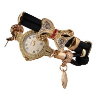 Black Color Micro Supply Bowknot Pendant Ladies Watch W-19