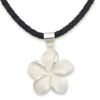 Frangipani Hand Crafted Women's Floral Sterling Silver Necklace ANDN-13