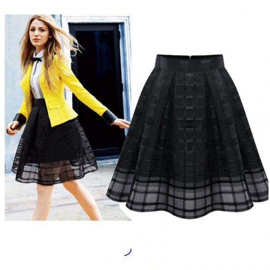 Women Fashion Black Root Yarn Skirt Dress WC-14bk image