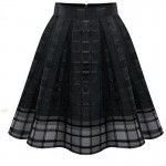 Women Fashion Black Color Root Yarn Skirt Dress WC-14 |images|Dresses