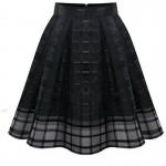 Women Fashion Black Root Yarn Skirt Dress WC-14 image