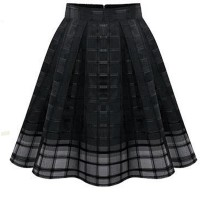 Women Fashion Black Root Yarn Skirt Dress WC-14bk