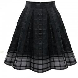 Women Fashion Black Root Yarn Skirt Dress WC-14
