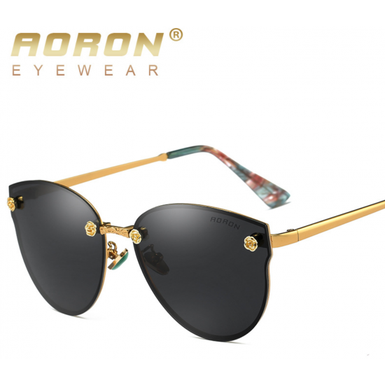 Aoron Design Black Personality Polarized Unisex Sunglasses G-02 (Black) image