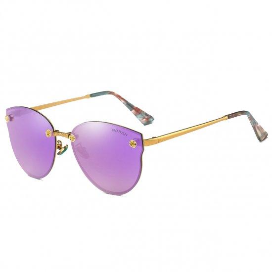 Aoron Design Purple Personality Polarized Unisex Sunglasses G-02 (Purple) image