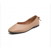 Women Fashion Leisure Style Brown Color Flat Shoes S-72BR