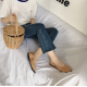 Women Fashion Leisure Style Brown Color Flat Shoes S-72BR image