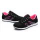 Women Lattice Pattern Black & Pink  Color Canvas Sneaker Shoes S-73PB
