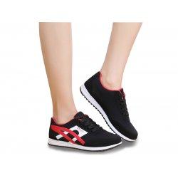 Women Fashion Black Breathable Sports Shoes S-74BK