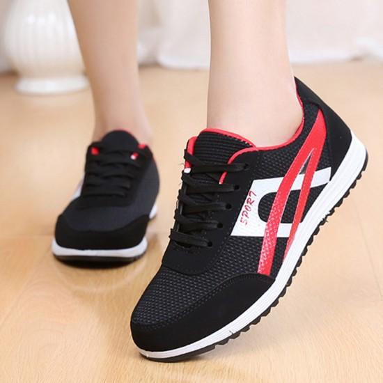 Women Fashion Black Breathable Sports Shoes S-74BK image