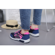 Women Comfty Blue with Pink Shade Jogging Sports Shoes S-75BL image