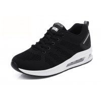Women Air Cushion Running Black Jogging Sports Shoes S-79BK