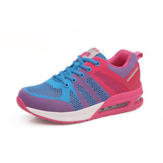 Women Air Cushion Running Blue Jogging Sports Shoes S-79BL image