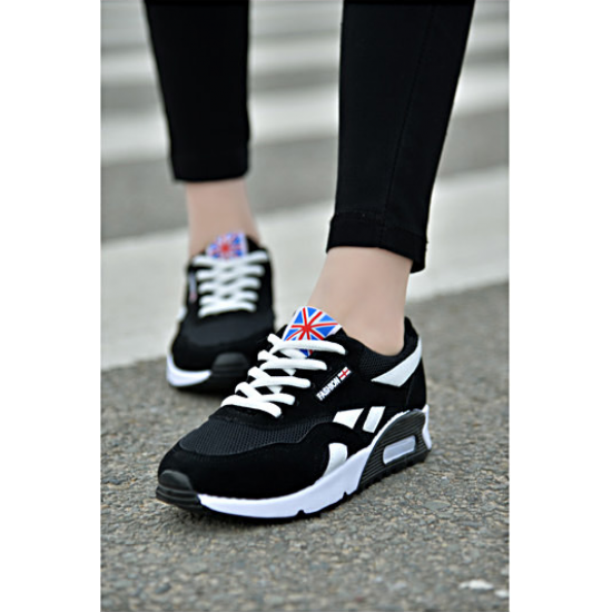 Women Comfortable Wild Breathable Light Running Sports Shoes S-80BK