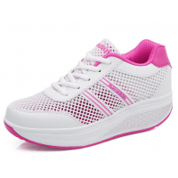 Women Breathable White Light Weight Soft Running Sports Shoes S-81WT