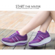 Women Breathable Purple Light Weight Soft Running Sports Shoes S-81PR