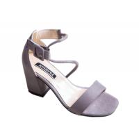 Women Word Buckle Light Purple High Heels Sandals S-84PR