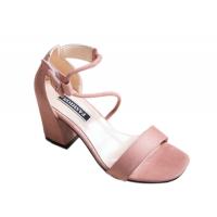 Women Word Buckle Pink High Heels Sandals S-84PK