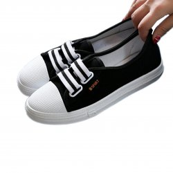 Women Light Stylish Canvas Sneaker Shoes S-86BK