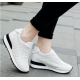Women Breathable High Slope Running Sports White Shoes S-90W image