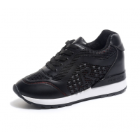 Women Breathable High Slope Running Sports Black Shoes S-90BK