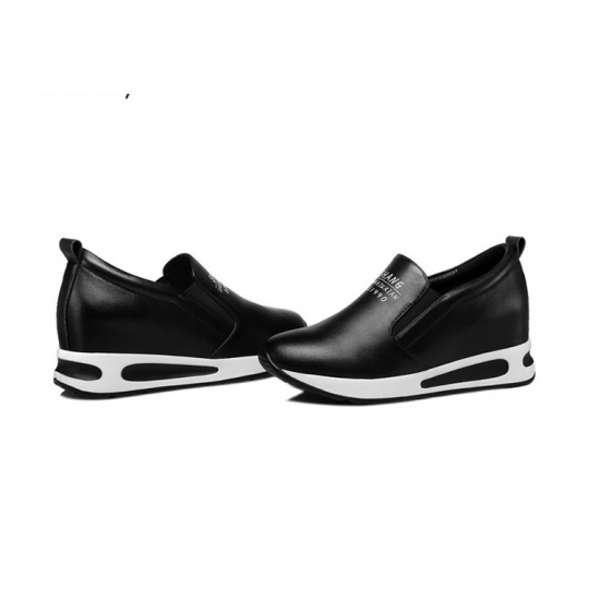Women Thick Slope Bottom Lazy Sports Running Shoes S-93BK image