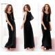 Women Latest Style Bohemian Retro Lotus Leaf Elegant Long Dress WC-84BK image