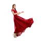 New Elegant Lace Designed Chiffon Big Pendants Short Sleeved Long Section Dress WC-71RD