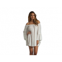 New Off the Shoulder Loose Women Chiffon Long Sleeve Shirt WC-77W