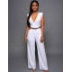 Women Irregular High Waist V Wide Legs Pants Dress WC-79WT image