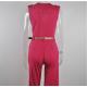 Women Irregular High Waist V Wide Legs Pants Dress WC-79RD image