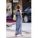 Women Sleeveless Floral Casual Bohemian Skirt Tide Spot Dress WC-85BL image
