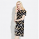 European Fashion Sexy Sequined Long Section Short Sleeved Evening Dress WC-88BK image