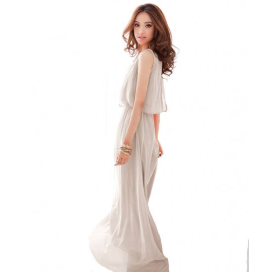 Women Latest Style Bohemian Retro Lotus Leaf Elegant Long Dress WC-84CR image