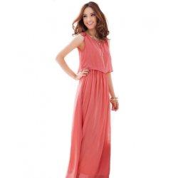 Women Latest Style Bohemian Retro Lotus Leaf Elegant Long Dress WC-84RD