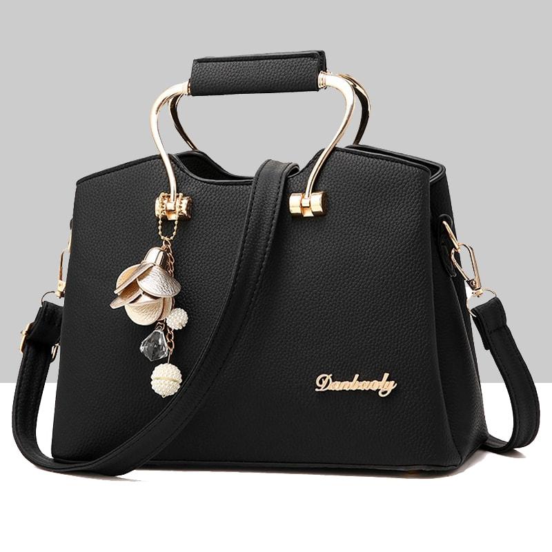 -39% Retro Leather Plain Shoulder Handbag WB-57BK  a061429e762d6