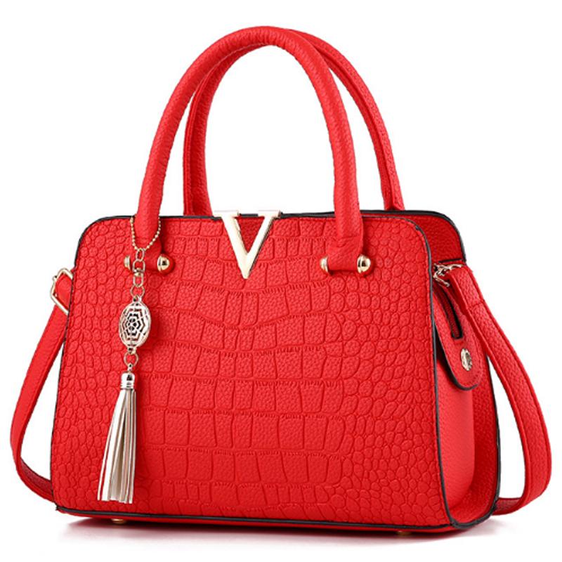 43 Solid Color Crocodile Pattern European Fashion Womens Handbag Wb 17rd Image